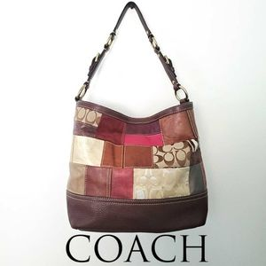 Coach Holiday Patchwork Tote